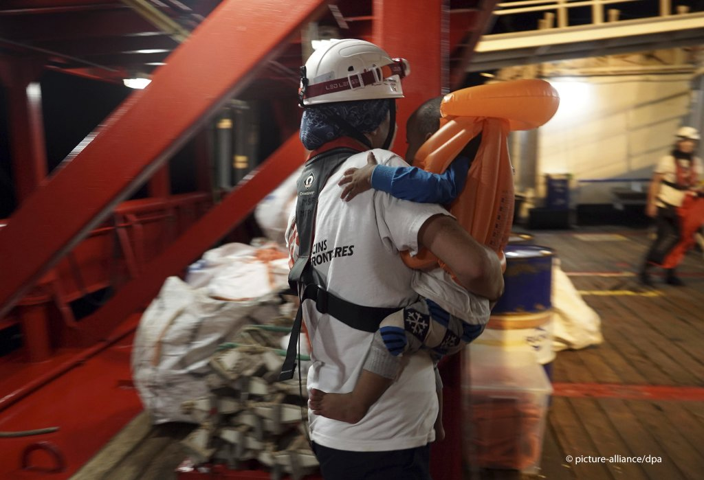 More than 80 migrants remain on board the vessel including several children  COPYRIGHT picture-alliancedpa