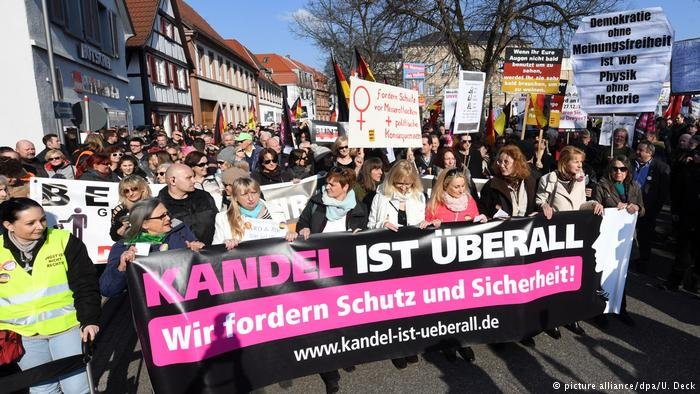 The 'Kandel is everywhere' group has held regular protests against migrant policies since December