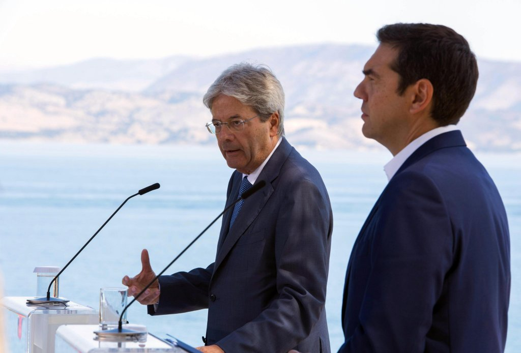 Paolo Gentiloni and Alexis Tsipras met in Corfu (ANSA/UFFICIO STAMPA/TIBERIO BARCHIELLI)