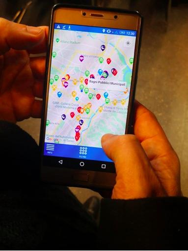 اسکرین شات از اپلیکیشن جدیدی که برای مهاجران سهولت میآفریند.