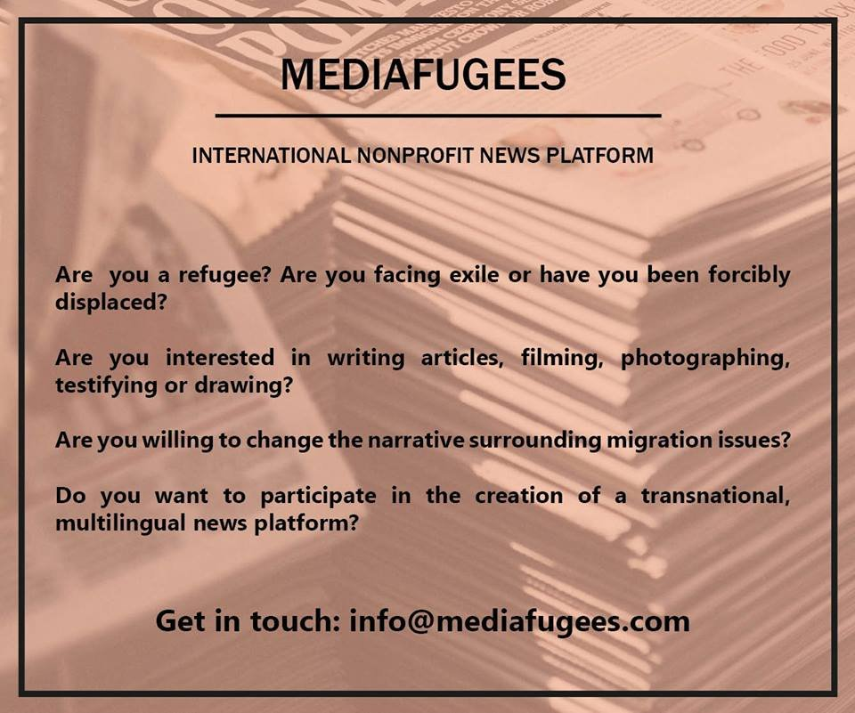 Mediafugees publishes articles by migrants.