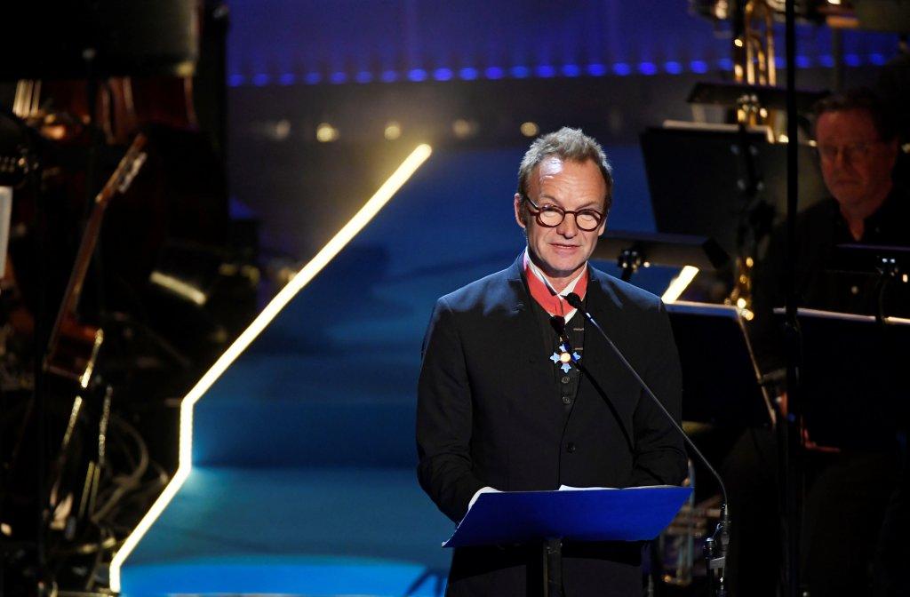 Sting lors de la remise du prix Polar Music à Stockholm, en juin 2017. Crédit : Reuters