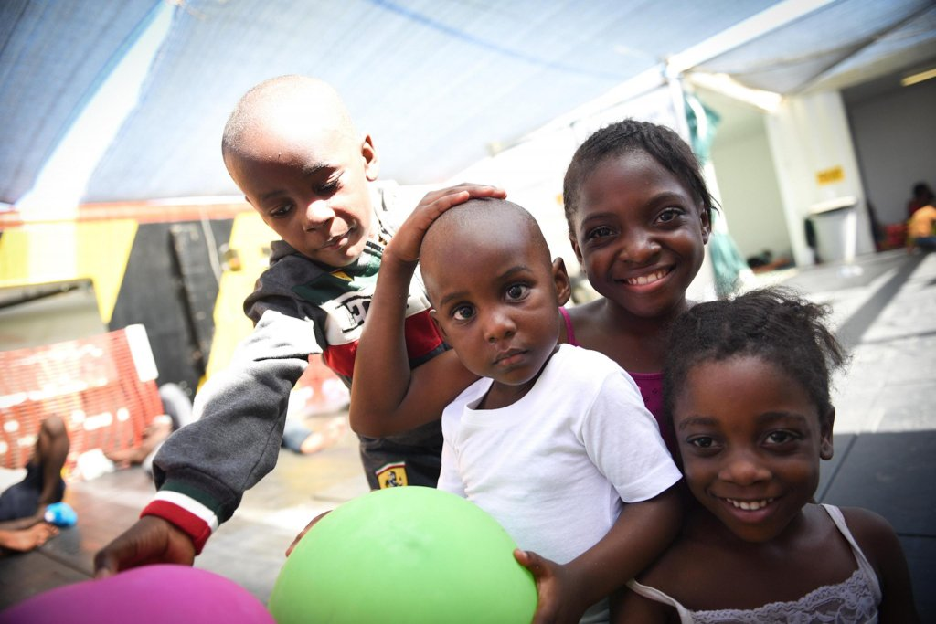 ANSA / أطفال لاجئون تحت حماية منظمة اليونيسف