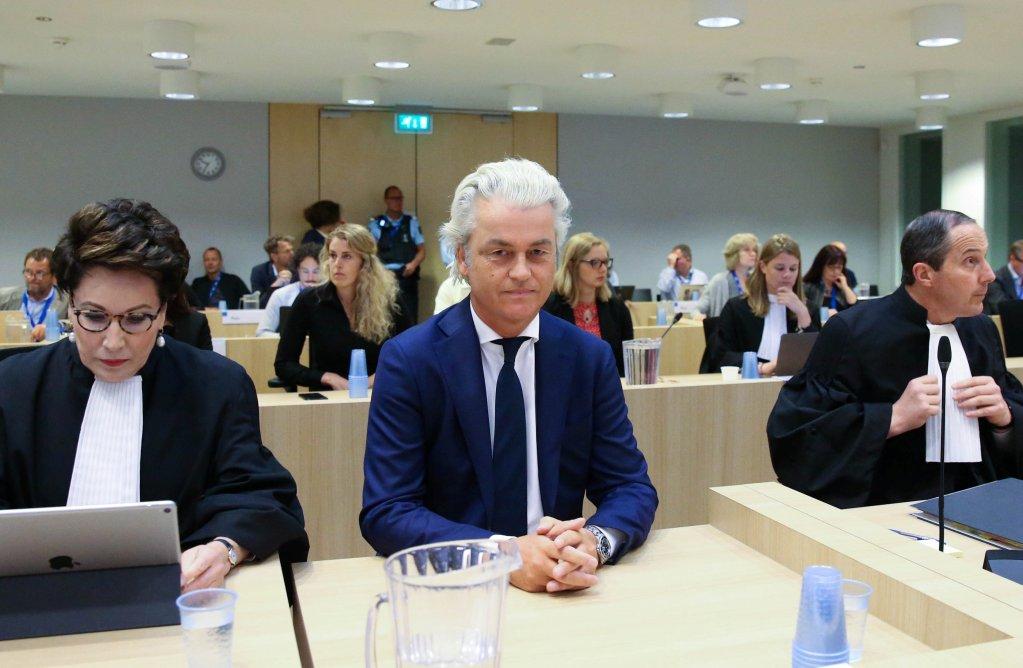 REUTERS/Francois Walschaerts |Procès en appel de Geert Wilders, Amsterdam, ce jeudi 17 mai 2018.