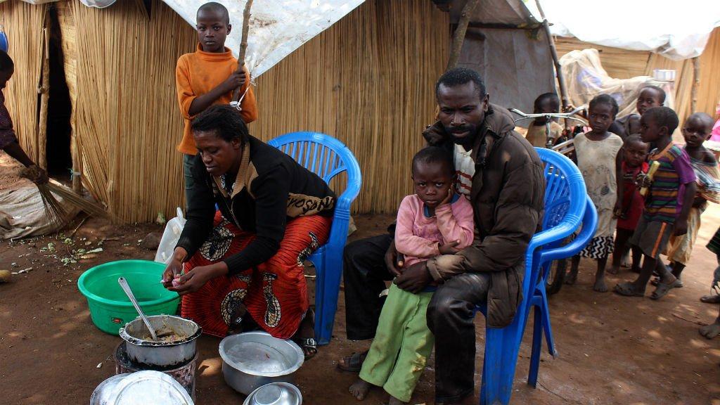 Obert Simwanza, AFP |Des réfugiés venus de la République démocratique du Congo dans un camp en Zambie, le 30 octobre 2017.