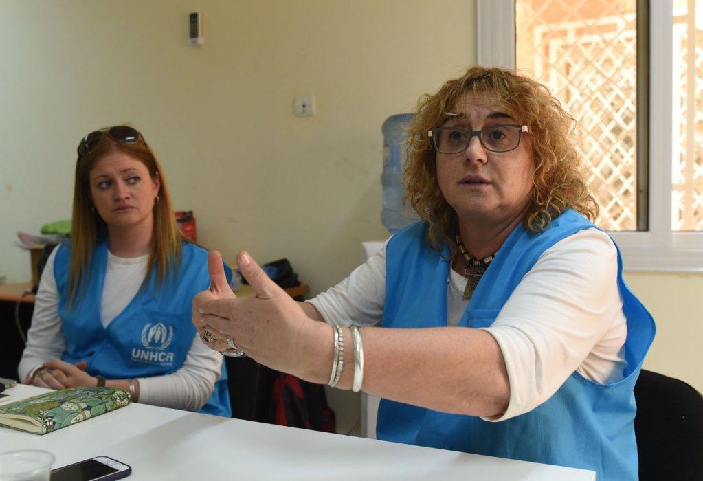 A droite Alessandra Morelli la reprsentante du HCR au Niger Crdit  Mehdi Chebil