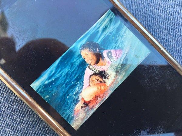 Camara migrante guinenne du foyer a t prise en photo lors du naufrage de son embarcation le 17 janvier 2018