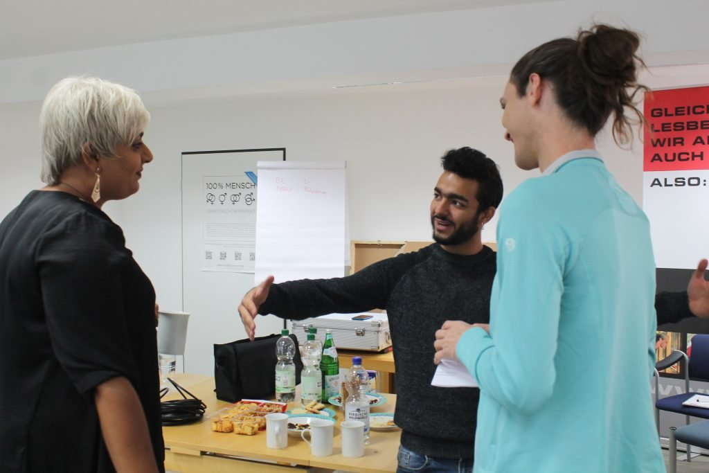Lilith Raza l at networking meeting for queer refugee activists in Cologne in 2019 Photo LSVD eV Bundesverband