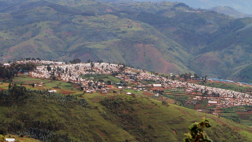 Le camp de réfugiés de Kiziba, au Rwanda. Crédit : Reuters
