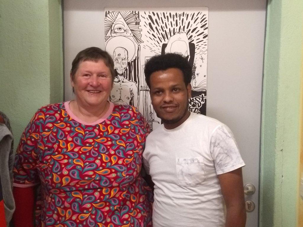 Ellen Demnitz-Schmidt and Souleman Osman at Spike Dresden  Photo Emma Wallis