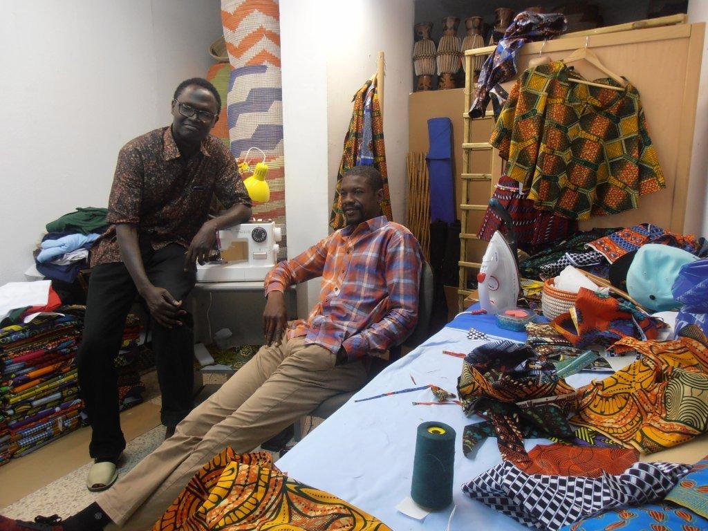 Ababacar Thiakh et Aliouene Tiham du Sénégal sont membres de la coopérative DiomCoop    Photo: Judit Alonso