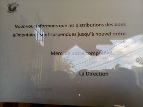 Ce document était affiché sur la porte d'entrée des locaux de l'association Solidarité Mayotte. Crédit : DR