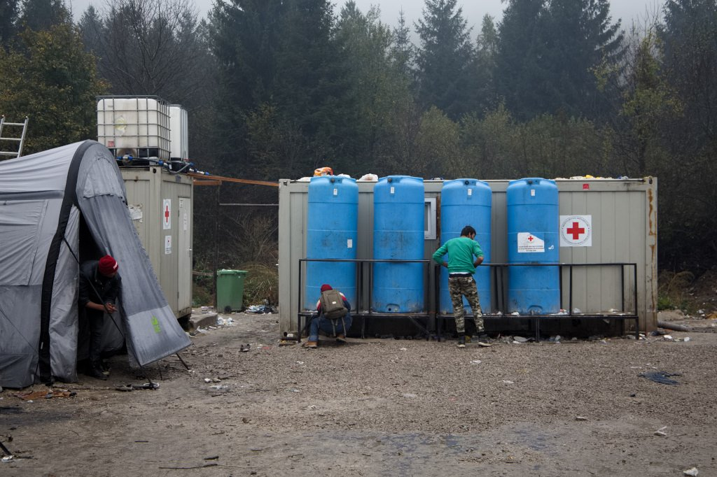 There is no running water in the camp, only a couple of water tanks | Photo: Jelena Prtoric