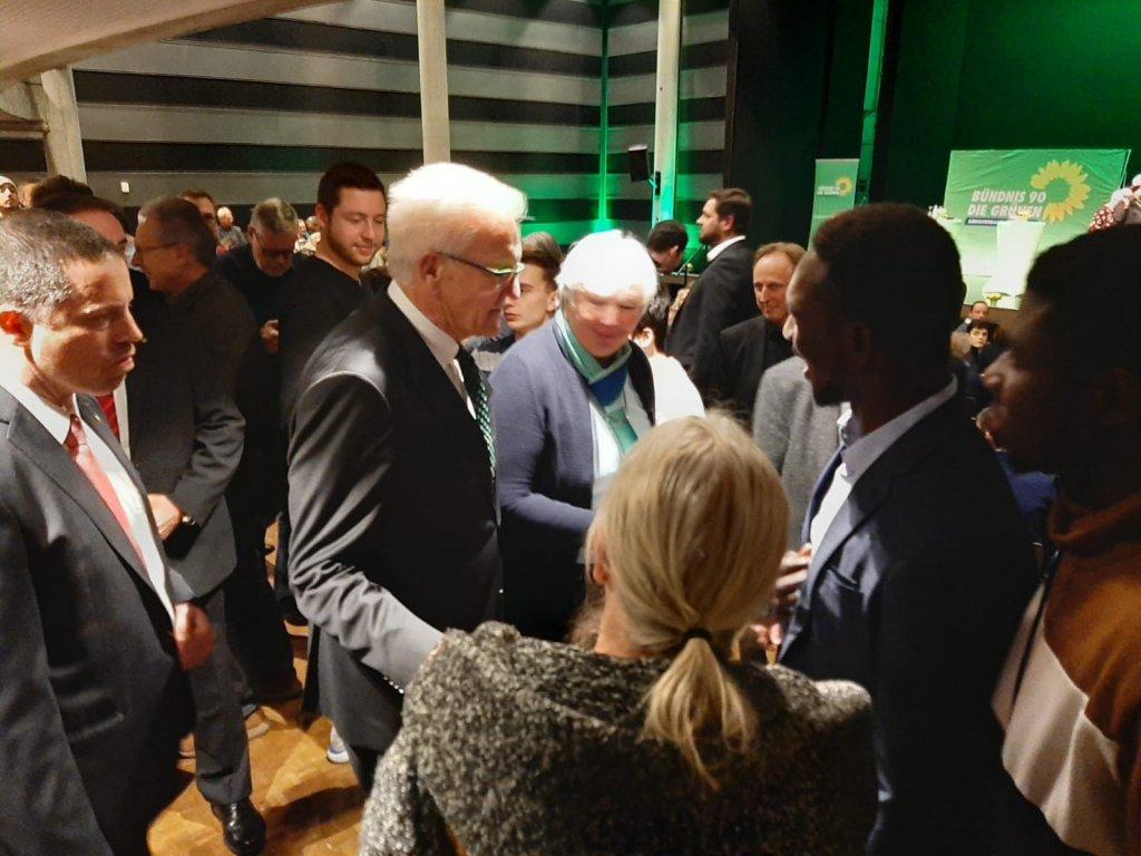 Yahya Sonko  droite avec Winfried Kretschmann le minitre-prsident du Bade-Wurtemberg en janvier 2020  Photo  Yahya Sonko