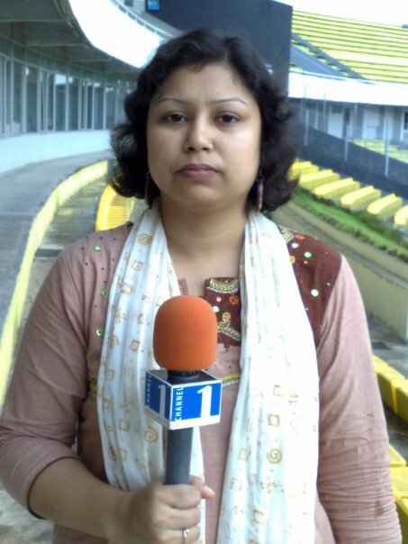 Mahbuba reports for Channel One as a sports journalist in Bangladesh  Photo Private