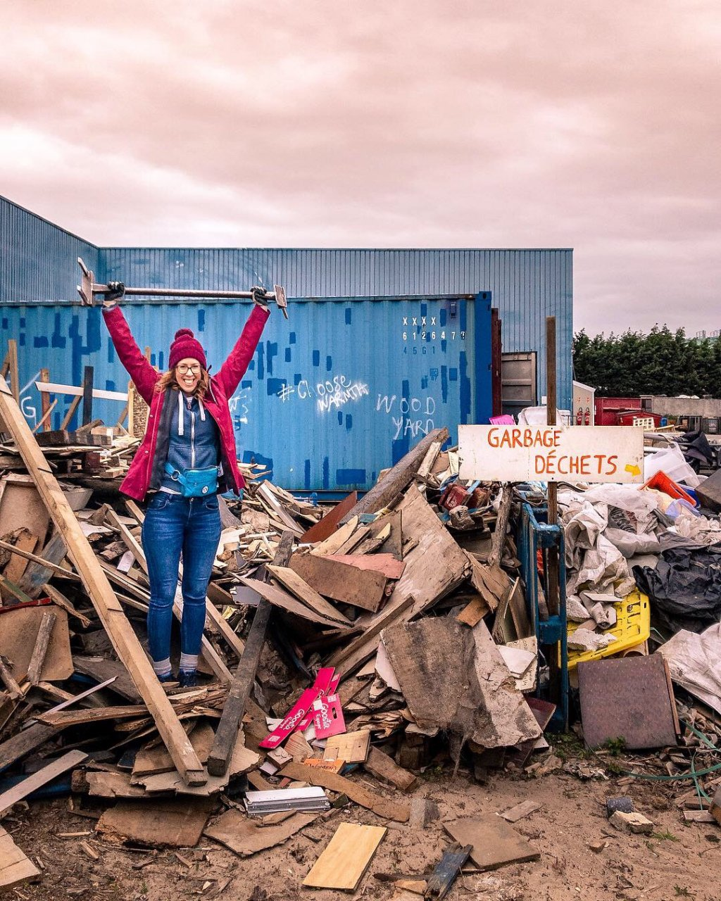 Sol at the Help Refugees Warehouse in March 2019  Photo Courtesy of Sol Escobar