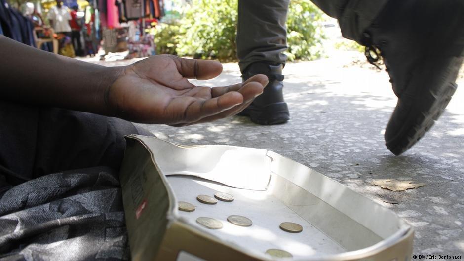 Begging in the streets of Dar es Salaam