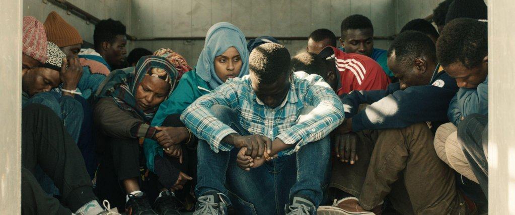 "A still from ""The order of things"" shows migrants cooped up in a small space (ANSA)"