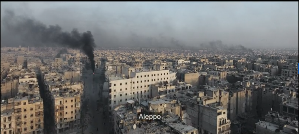 Aleppo my city a shot from Waad Al Kateabs film For Sama  Source Screenshot from For Sama trailer
