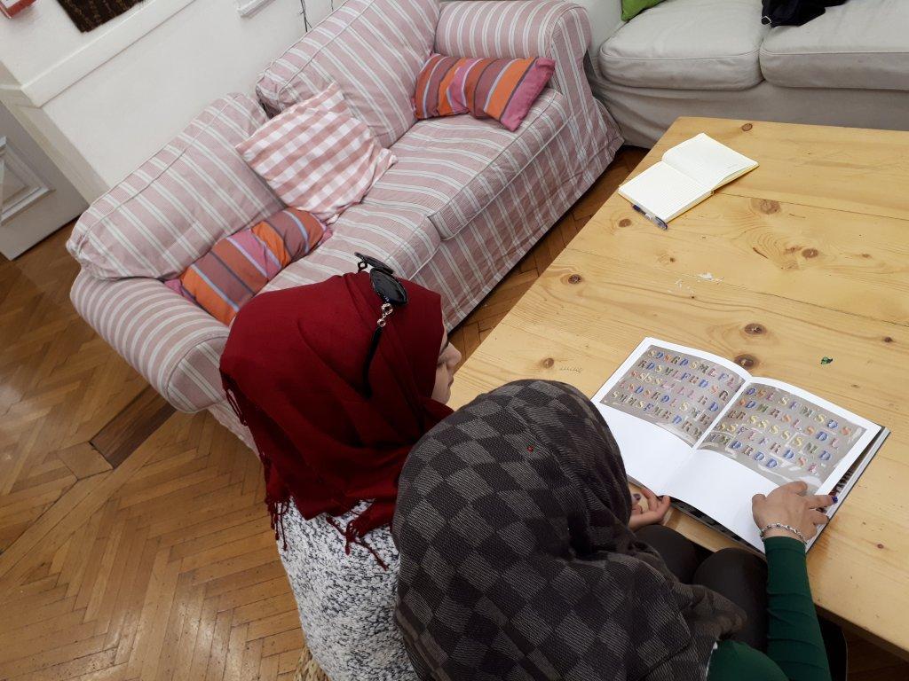 Les soeurs Hadell et Khadije étudient ensemble | Crédit : Omaira Gill