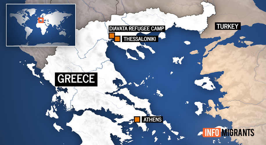 Thessaloniki and nearby Diavata refugee camp