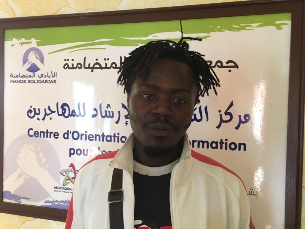 Pascal, un migrant camerounais. Crédit : Boualem Rhoubachi