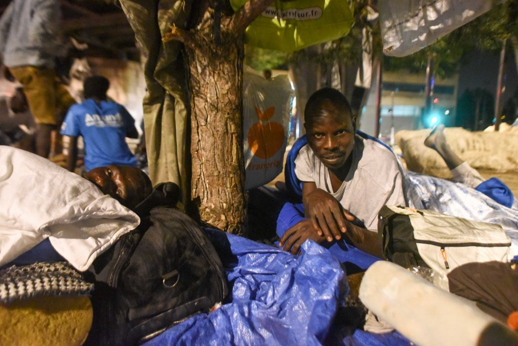 مهاجرون في لابورت دو لاشابيل/ مهدي شبيل/ أرشيف