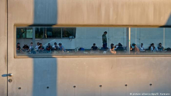 Refugees inside the Migratino Office in Bavaria