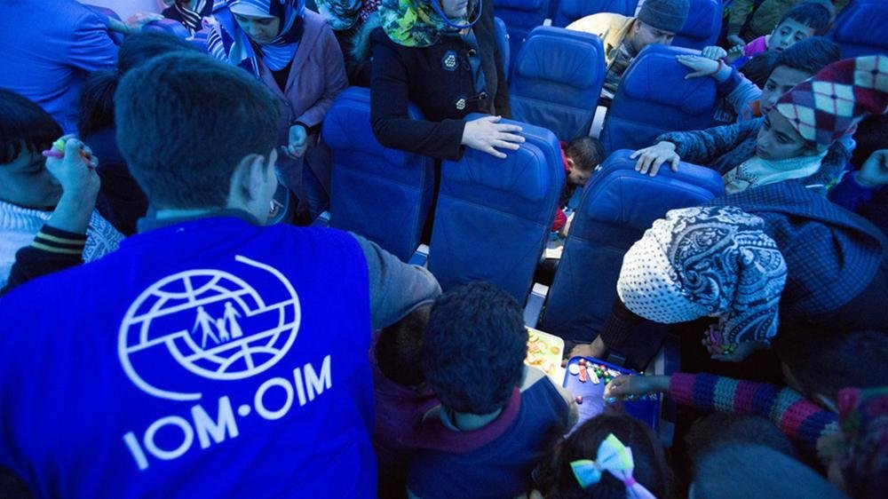 Some of the Syrian refugees who have been resettled in Slovenia. Credit: IOM
