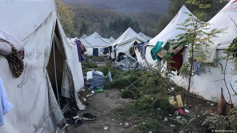 Overcrowded and underfunded the municipality of Bihac feels it cant cope alone with running the Vucjak camp  Photo DWDMaksimovic