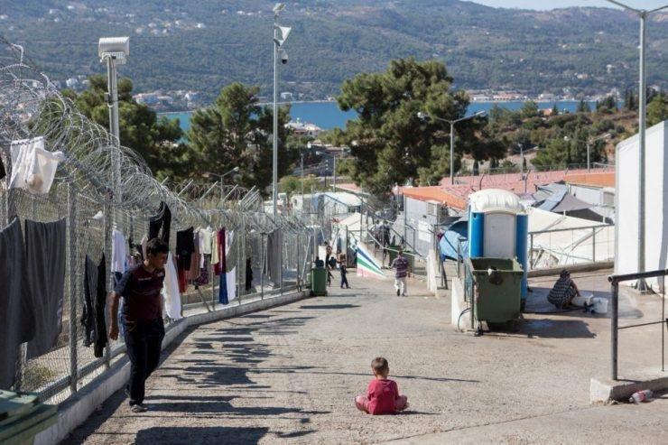"""ANSA / مركز استقبال """"فاثي"""" في جزيرة ساموس اليونانية. المصدر: ساموس 24 جي أر."""