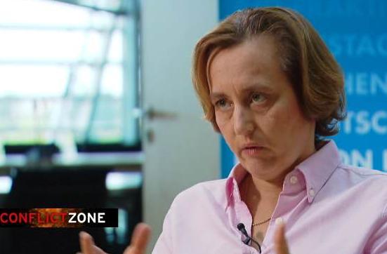 Beatrix von Storch dans une interview avec la Deutsche Welle juillet 2019   Source  DW