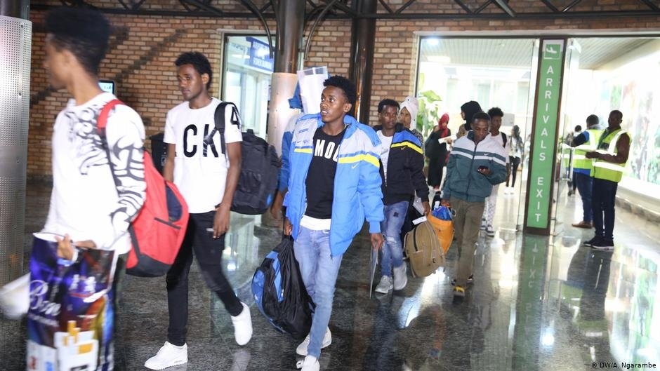 Around 200 refugees have been flown in from Libya since September | Photo: DW/A.Ngarambe