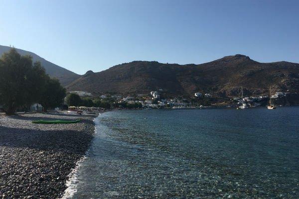 Une vue du village de Livadia, à Tilos. Crédit : Charlotte Boitiaux