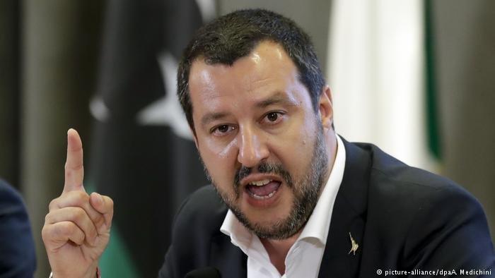 picture-alliance/dpaA. Medichini |وزير الداخلية الأيطالية ماتيو سالفيني ( صورة من ألأرشيف)