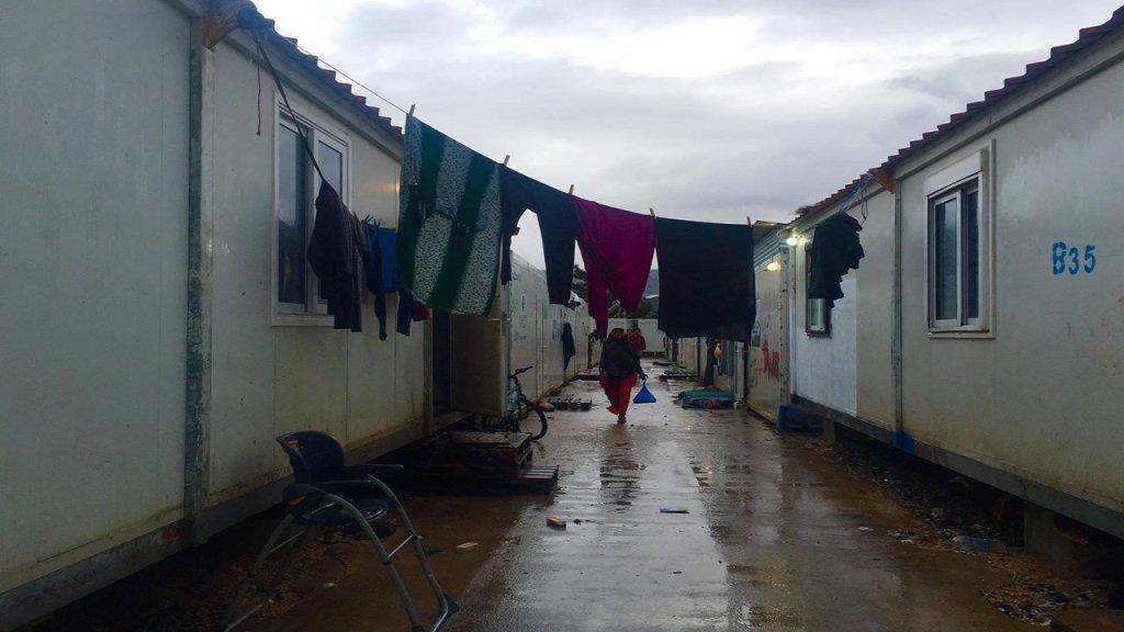 الوضع في المخيم الواقع في جزيرة خيوس صعب جداً. المصدر/ طارق أرسل الصورة