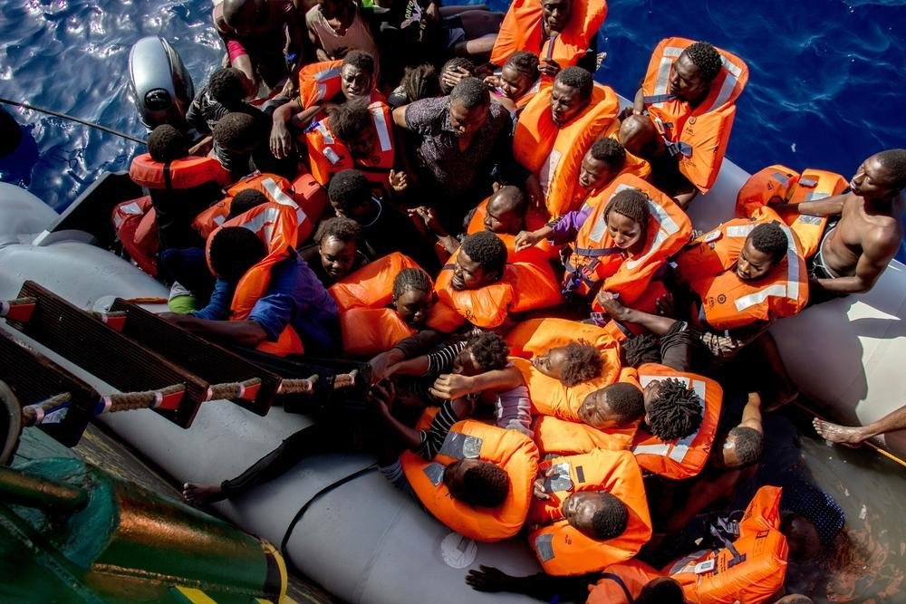 Picture shows a Mediterranean Sea. ANSA/MSF press office