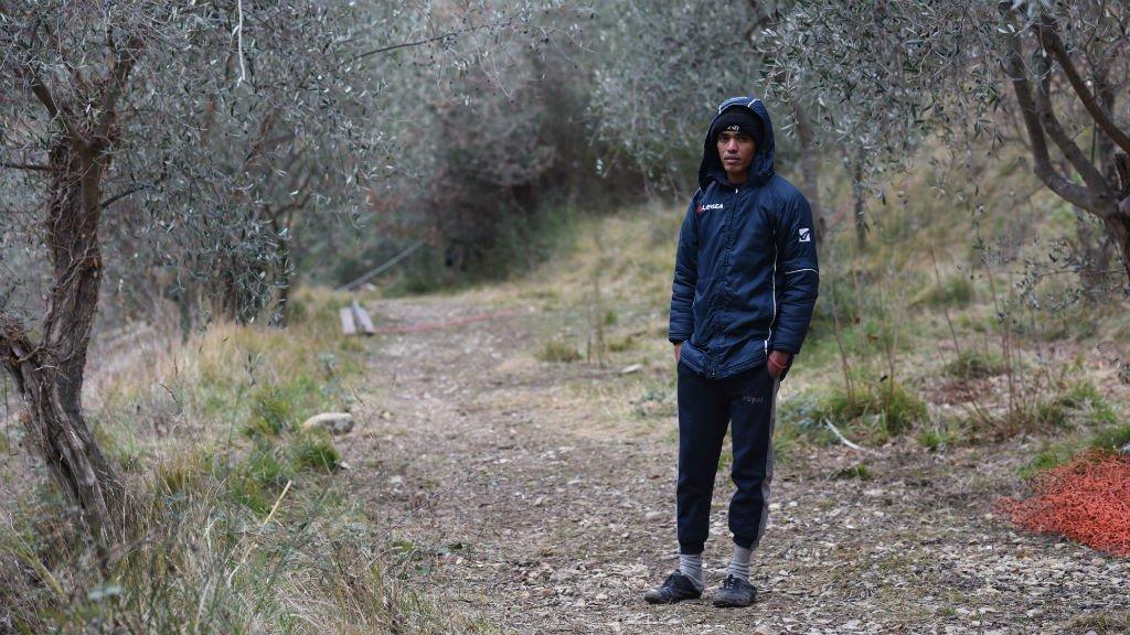 Un migrant hébergé par le militant Cédric Herrou, dans la vallée de la Roya
