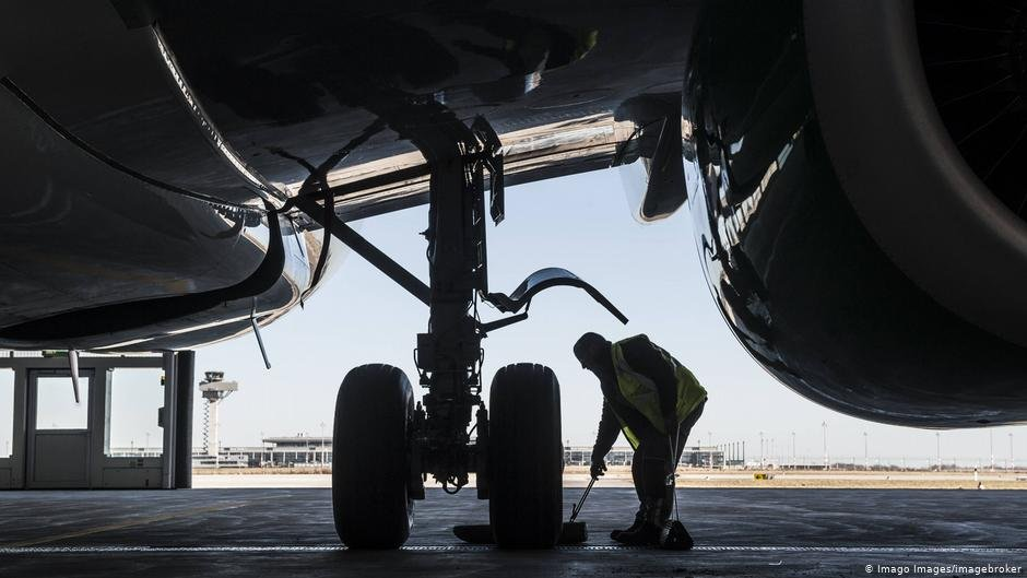 This image shows the rough proportions between landing gear and an average-sized male highlighting how easy it is to get crushed by the wheels as they retract  PHOTO Imago ImagesImagebroker