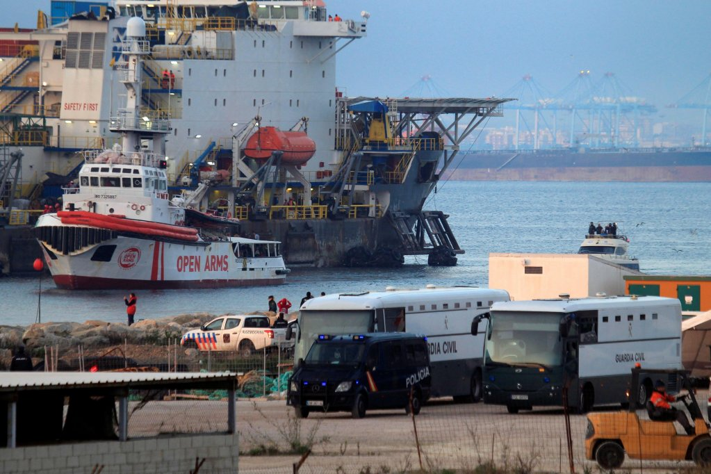 The Open Arms rescue vessel in San Roque Port in Algeciras, southern Spain | PHOTO/ARCHIVE/EPA/A.CARRASCO RAGE