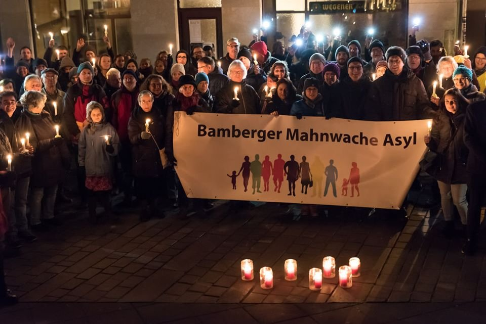 Screenshot of the Bamberger Mahnwache a vigil for refugees httpswwwfacebookcomDieBambergerMahnwachenseite