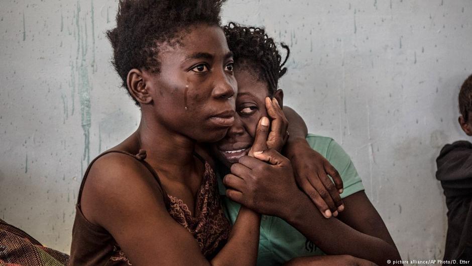 Nigerian refugees in Libyan custody in 2016