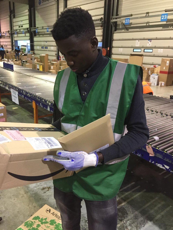 Amadou a travaillé quatre mois pour le Chronopost d'Alfortville. Crédit : DR
