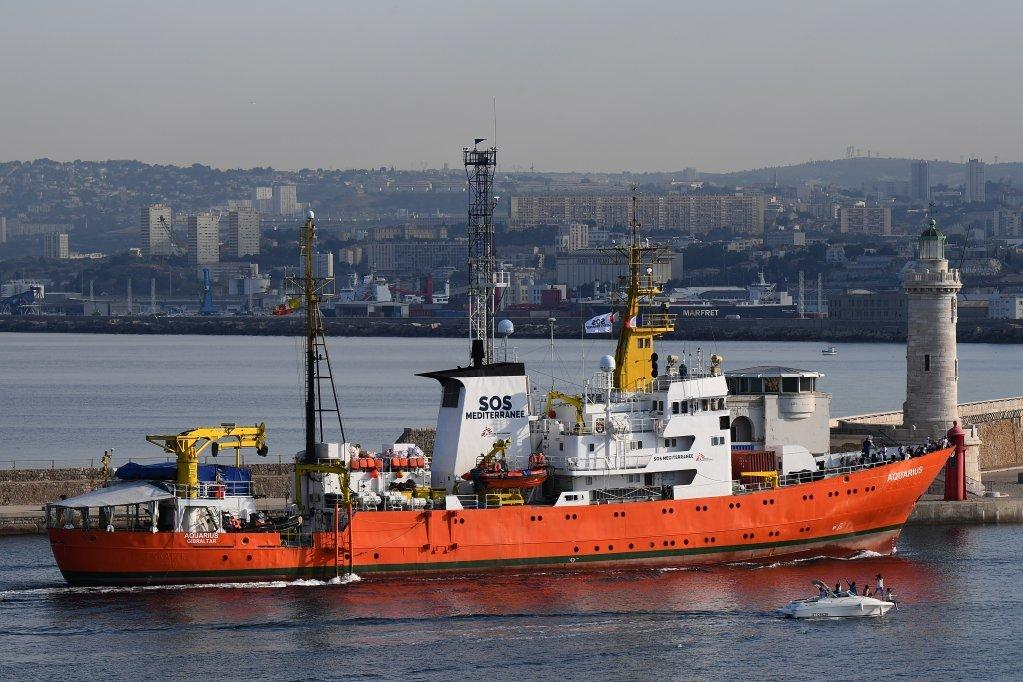 کشتی اکواریوس روز پنجشنبه 2 جون بندر مارسی در فرانسه را به قصد آب های لیبیا ترک کرد. عکس از بوریس هوروات، خبرگزاری فرانسه.