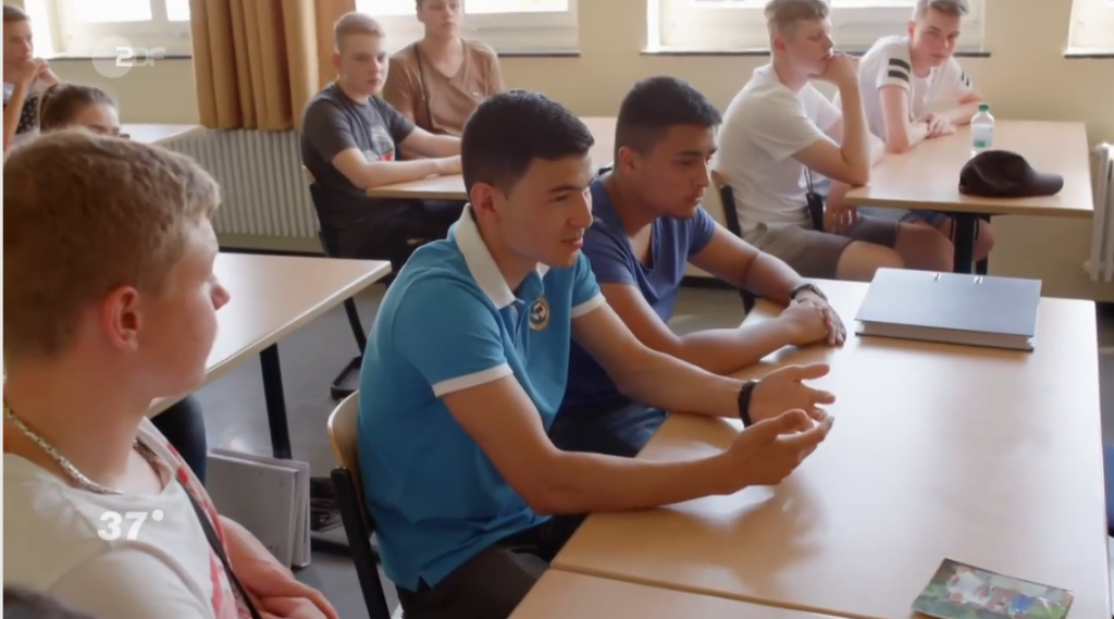 Samir did well at school says the narrator in the documentary After learning Germany he was able to transfer directly into the eighth grade and complete his school certificate  Credit Screenshot ZDF documentary