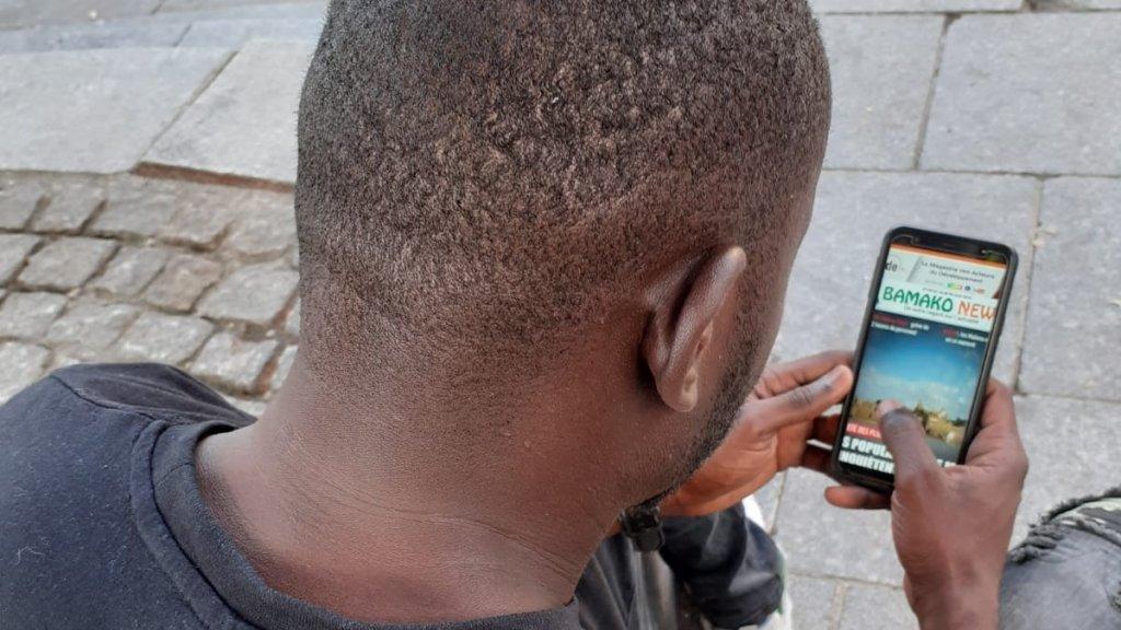 Sisoko lit principalement des informations sur le Mali sur internet Crdit  DR