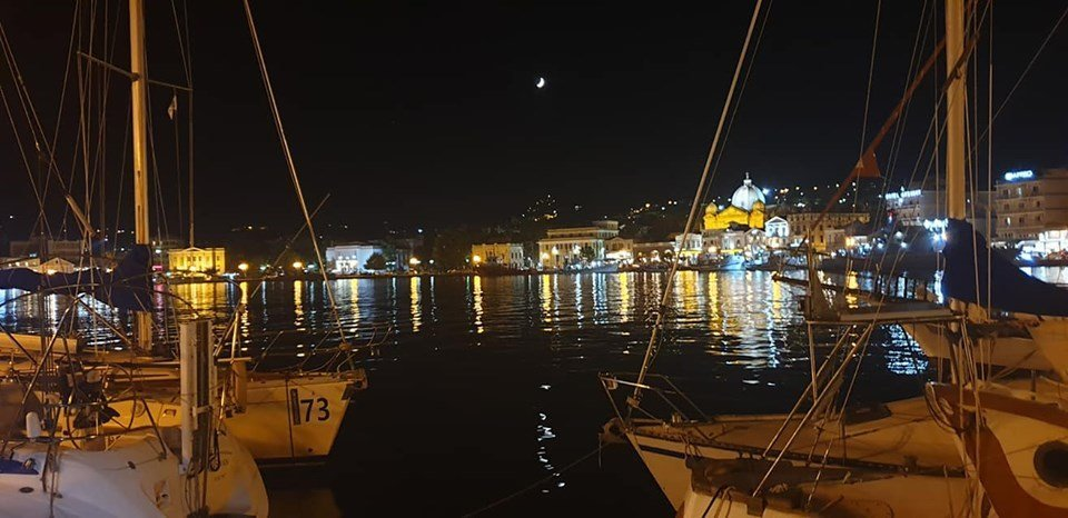 Mytilene harbor Lesbos Greece  Photo Amanullah Jawad