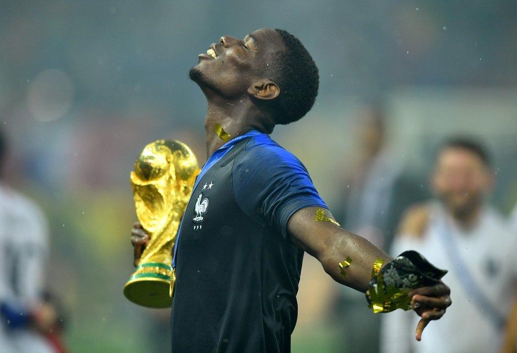 Paul Pogba, fou de joie après la victoire des Bleus à la Coupe du monde 2018. Crédit : Reuters
