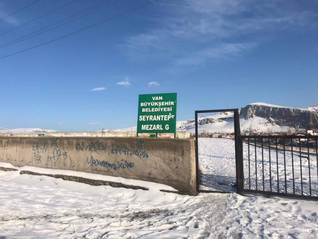 Cemetery gate, Van, Turkey | Photo: Madhi Heydari, an Afghan migrant in Van Province, Turkey, January 2020