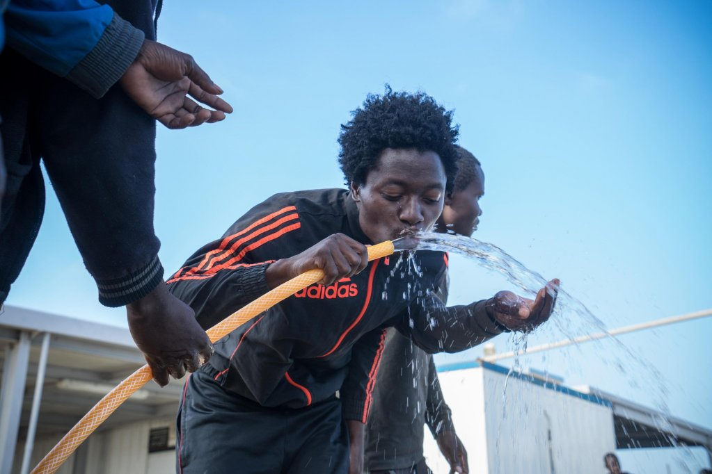 Momodou spent three weeks in an illegal jail in Libya Credit: ANSA